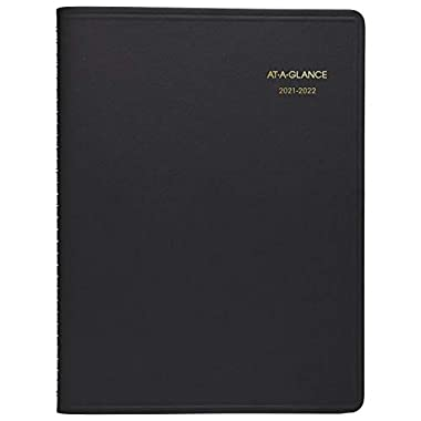 Academic Planner 2021-2022, AT-A-GLANCE Weekly Appointment Book & Planner, 8-1/4″ x 11″, Large, for School, Teacher, Student, Black (7095705)