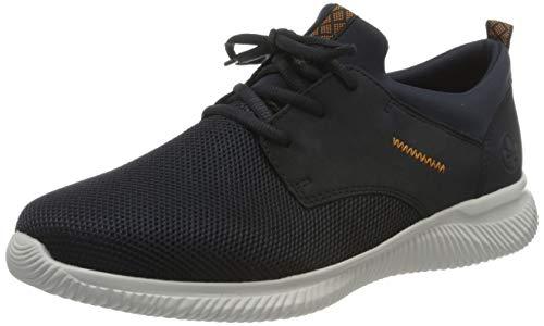 Rieker Herren B7480 Sneaker, Navy/Pazifik/Navy 14, 43 EU