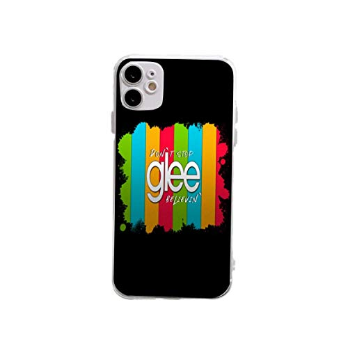 Glee TV Series Rainbow Style Funda de silicona transparente a prueba de golpes diseñadas para iPhone 12/12 Pro Cases