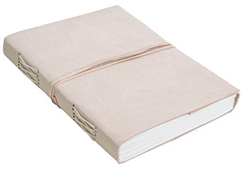 Gusti Leder nature ''Paulina'' Libro DIN A5 Blocco per Appunti Diario Pelle Bovina Blocco da disegno Planer Diario Pelle Libro Fantasia Beige P44