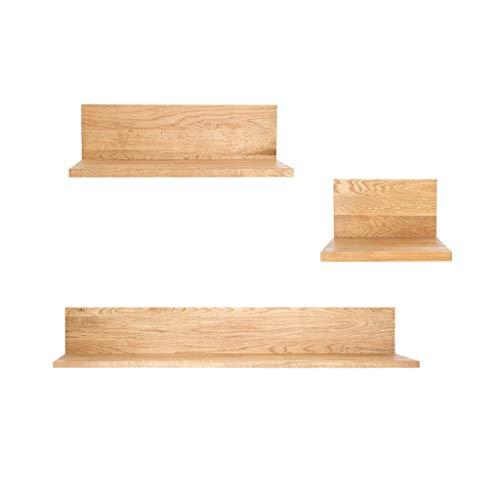 GY Houten Zwevende Planken, 3-delige Set Wandmontage L Type Boekenkast, Decoratie Slaapkamer, Woonkamer Open haard Display Wandstandaard Houtkleur
