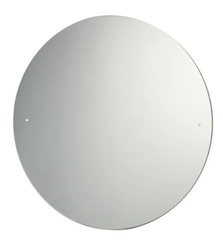40cm Diameter Circular Bathroom Mirror with Drilled Holes & Chrome Cap Wall Hanging Fixing Kit