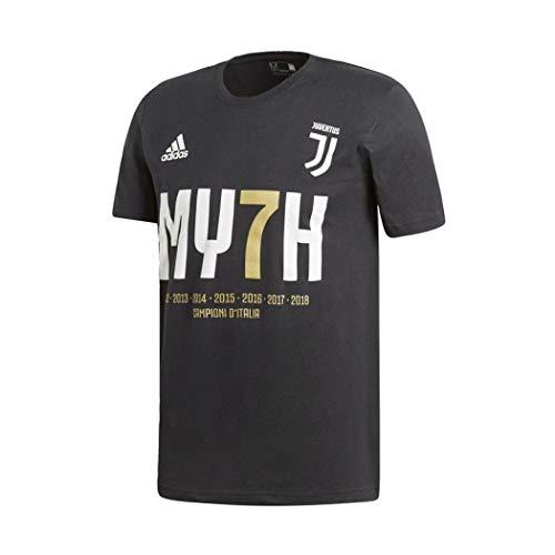 adidas FC Juventus Maglia CELEBRATIVA MY7H 36 Scudetto Adulto Ufficiale Colore - Nero, Misure - M