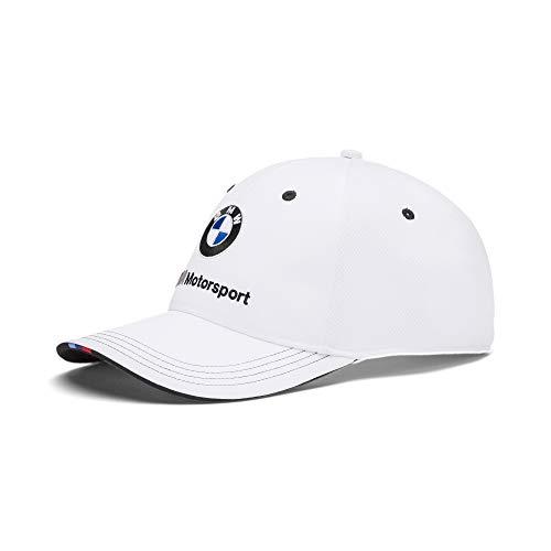 PUMA x BMW Motorsport Adjustable Snapback Baseball Cap Hat (White)