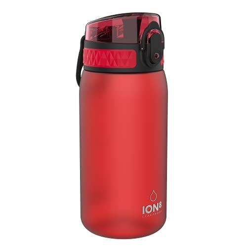 Ion8 Botella Agua Niños Sin Fugas, Sin BPA, Rojo ⭐