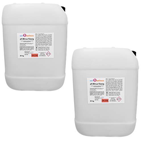 well2wellness pH Minus flüssig/pH Senker flüssig - 2 x 25 kg Kanister