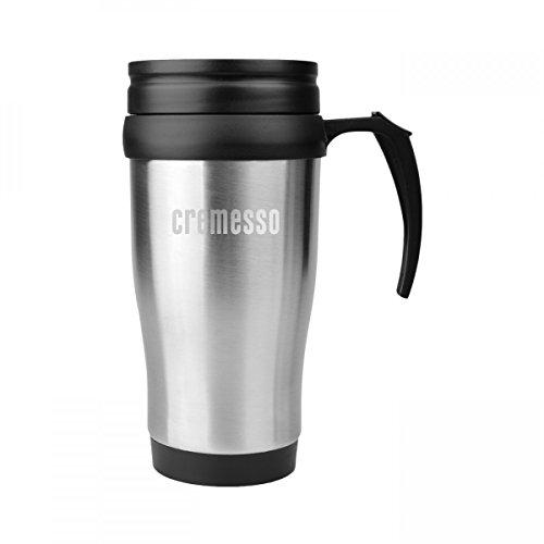 Cremesso Thermobecher Kaffee Aufbewahrung 400ml Verschlussklappe Isolierend