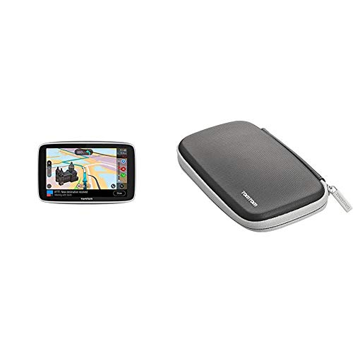 TomTom Navigationsgerät GO Premium (6 Zoll) & Schutzhülle (geeignet für alle TomTom Navigationsgeräte mit 6-Zoll-Display, z.B. Start, Via, GO, Trucker, Rider, GO Basic, GO Essential, GO Premium)