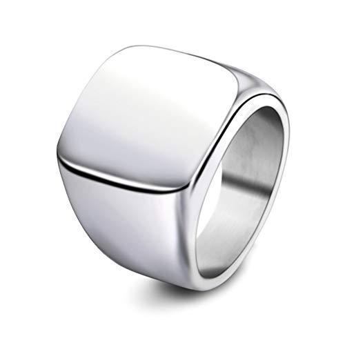 Lubier Anillo Retro Moda Juntas Set es adecuado para todo tipo de personas 9# Silver1