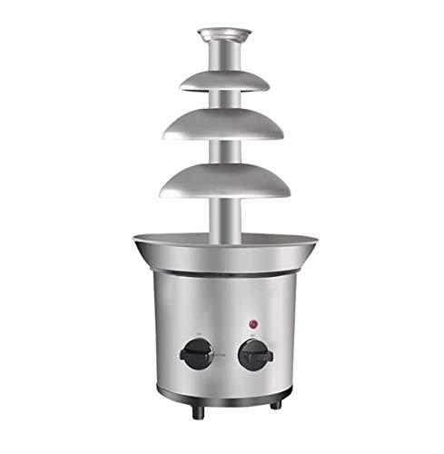 YHX Fuentes De Chocolate, 4 Niveles Mini Máquina De Fusión De Cascada De Fondue Eléctrica De Acero Inoxidable para Cocinar Comercial Hogar Boda Cumpleaños Navidad
