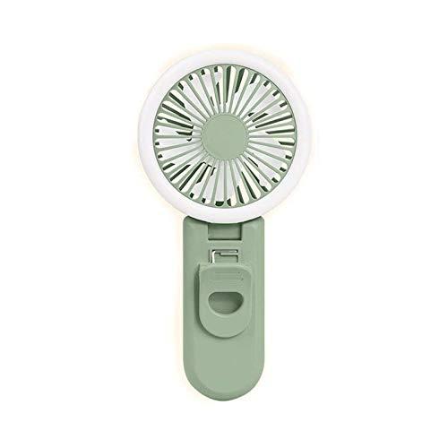 JeeKoudy Ventiladores USB, refrigeración por circulación de Aire Ultra Tranquilo, Clip Plegable de plástico Ajuste de la luz de la Velocidad de la Velocidad del Viento de Tres velocidades