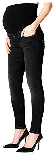 ESPRIT Maternity Damen Pants Denim OTB Slim Umstandsjeans, Schwarz (Black Darkwash 940), 38 (Herstellergröße: 38/32)