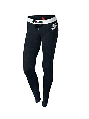 Nike Damen Hose Rally Tights, Black/White/Reflective Silver, S, 545769-011