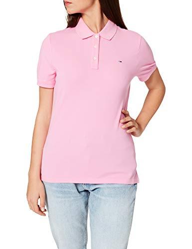 Tommy Jeans TJW Slim Camisa de Polo, Margarita Rosa, XL para Mujer