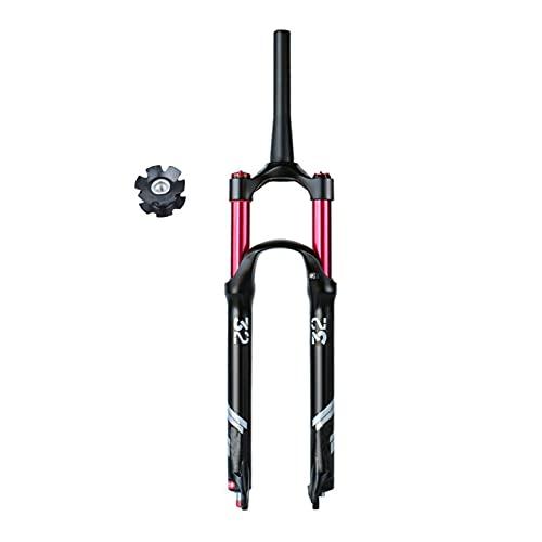 Horquilla Delantera para Bicicleta MTB 26' 27,5 29 Pulgadas,Ajuste de Rebote Aire Horquilla De Suspensión de Ciclismo Recorrido 140mm 1-1/8' (Size : 27.5inch)