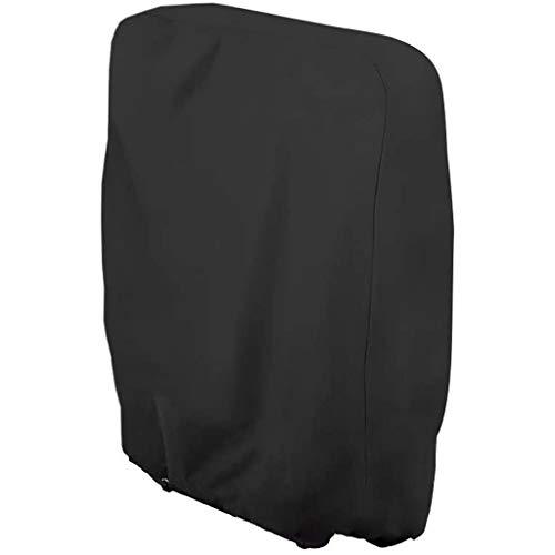 DIPOLA Schutzhülle für Klappstuhl Liegestuhl Sonnenliege Deckchair Abdeckung Wasserdicht Anti-UV Gartenmöbel Schutz vor Wettereinflüssen und Beschädigungen 210D Oxford 110cmX71cm (Black)