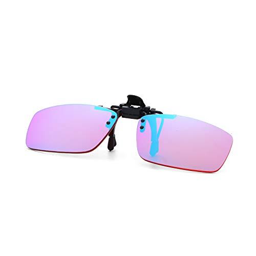 Vasos Daltónicos Clip de Las Mujeres y Los Hombres Correctivas Gafas de Sol Gafas de Daltónicos Clip Color Ciego Vidrios del Conductor de Clip para Todo Tipo de Daltonismo,B