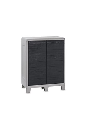 TOOMAX Courte Cabinet Woody's XL, Gris Clair/Anthracite, 78 x 46 x 101 cm