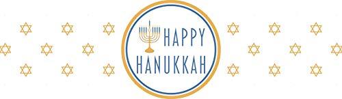 Hanukkah Napkin Ring - Gold Star (Set of 12)