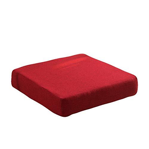 KE & LE Espesar Esponja Cojín, Espesar Oficina Estudiante Multi-Size Sofá Acolchado Movible Y Lavable Color Puro Mat-o 40x40x5cm