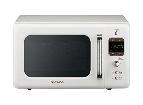Daewoo KOG-6LBW - Microondas 20 litros digital con grill, 800 W, color blanco