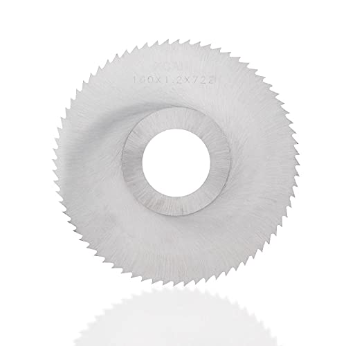 Hoja de sierra de corte 40 / 72T 100mm HSS hoja de sierra cortador de fresado para cortador de metal Dremel herramienta eléctrica disco de corte de metal de madera HSS-100x3.5x27mmx40T