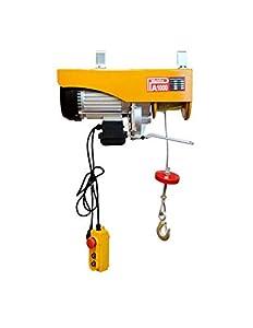 WinchPro - Polipasto Eléctrico 220V, Capacidad De 500/1000kg, Potencia Del Motor 1800w, Max. Altura De Elevación 12m, Construcción Robusta, Diámetro De La Cuerda De Acero 6mm