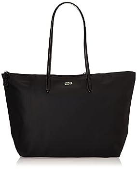 Lacoste womens L.12.12 Tote Shoulder Handbag Black One Size US