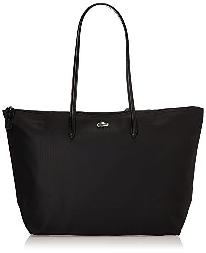 Lacoste womens L.12.12 Tote Shoulder Handbag, Black, One Size US