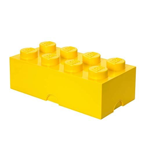 LEGO Aufbewahrungsstein, 8 Noppen, Stapelbare Aufbewahrungsbox, 12 l, gelb