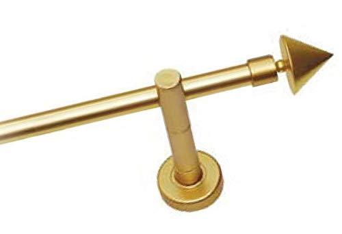 Gardinenstange Stielgarnitur Gold Matt 200 cm 28mm Neu Komplett Set