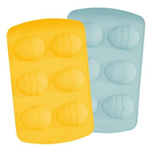 Robelli Lot de 2 moules en silicone pour œufs de Pâques Couleur aléatoire 2 grands