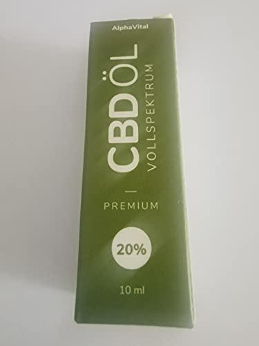 C B D Öl 20% Vollspektrum enthält 2000...