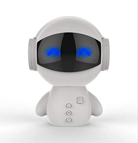 QIXIAOCYB Roboter Bluetooth Lautsprecher Wireless Card Mobiltelefon Mini Audio USB Lade mobiler Stromversorgung schwarz weiß Bluetooth- Lautsprecher(Farbe: SCHWARZ) (Color : White)