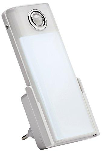 Northpoint LED Steckdosen Nachtlicht Taschenlampe Weiß Wandleuchte Bewegungsmelder Akku Notlicht Notlampe Stromausfall