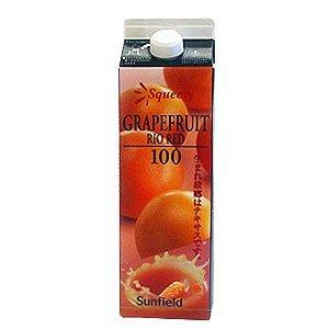 三田飲料『ピンクグレープフルーツジュース果肉入りリオレッド100』