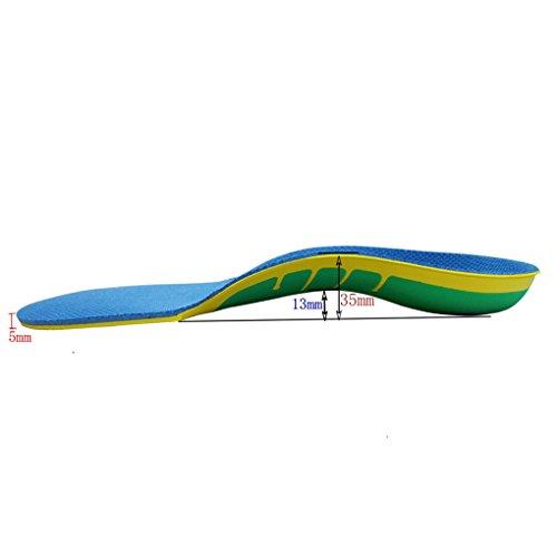 Boowhol Orthopädische Einlegesohle Komfort Gel Einlegesohlen Regenbogen Fuß Valgus Korrektur Ideal für Plattfüße und Arch-Unterstützung (L / 41-46 EU)