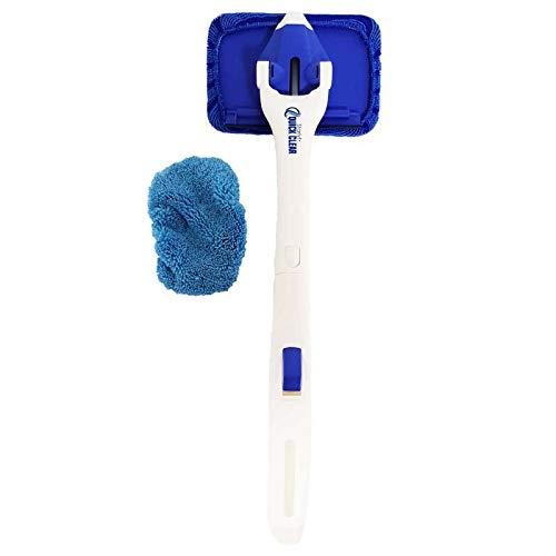 Ventéo 11294 - Detergente per vetri Starlyf Quick Clear, in Microfibra, con Raschietto e Manico ergonomico, Pieghevole, Colore: Blu e Bianco, Taglia Unica