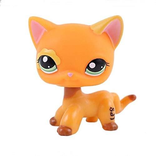 Lps Toy Pet Shop Pequeño Pelo Corto Gato Rosa Negro Antiguo Perro Perro Salchicha Pastor Anime Figura Modelo Juguetes para Niños