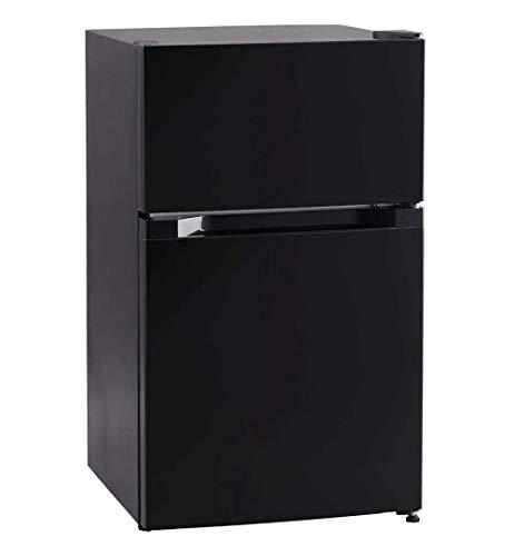 アイリスプラザ 冷蔵庫 87L 2ドア ひとり暮らし 幅47.5cm ブラック PRC-B092D-B