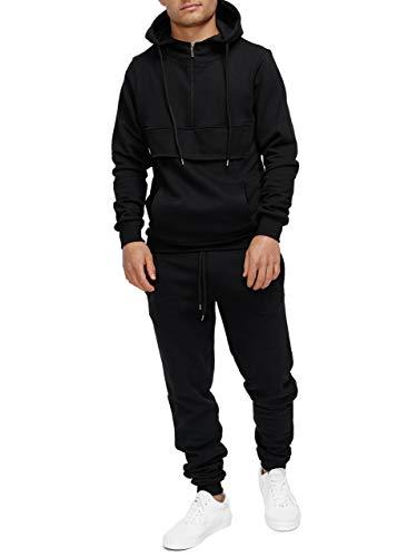 OneRedox | Herren Trainingsanzug | Jogginganzug | Sportanzug | Jogging Anzug | Hoodie-Sporthose | Jogging-Anzug | Trainings-Anzug | Jogging-Hose | Modell JG-527 Schwarz M