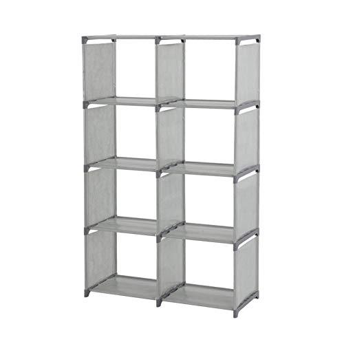 Trintion 5 Tier Modern Book Shelves 80x30x125cm Cabinet Rack Units Shelf Storage Display Bookcase Box (Gray)