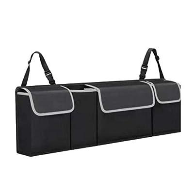 Shaboo Prints Car Backseat Trunk Organizer, Auto Hanging Back Seat Storage Bag, Cargo Storage Organizer Bag for SUV with Adjustable Straps