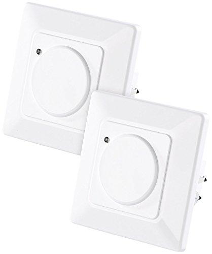 revolt Sensor Lichtschalter: 2er-Set Automatische Lichtschalter mit Radar-Bewegungsmelder (Mikrowellen Bewegungsmelder)