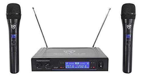 Rockville RWM1203VH VHF Wireless (2) HandHeld Microphones 4 Church Sound Systems