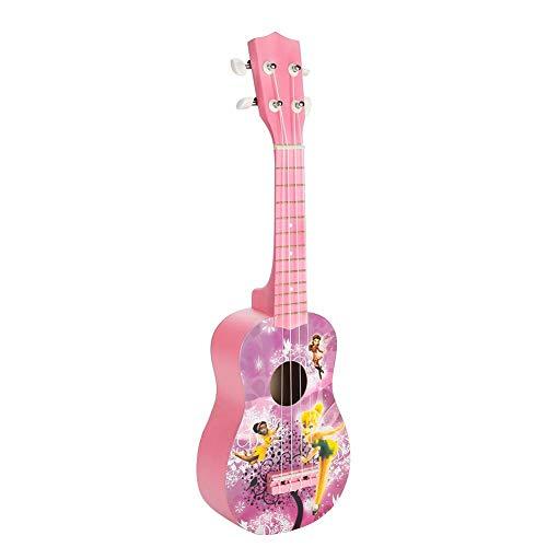 2色21インチ子供用おもちゃウクレレ女の子向けの素敵なパターンの無垢材ウクレレギフト(パープルエルフ)