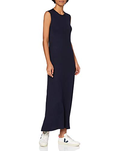 Marca Amazon - MERAKI Vestido Maxi sin Mangas Slim Fit Mujer, Azul (Blue), 36, Label: XS