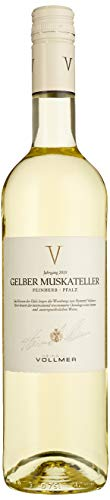 Vollmer Traubenspiel Gelber Muskateller Feinherb 2018 Halbtrocken (1 x 0.75 l)
