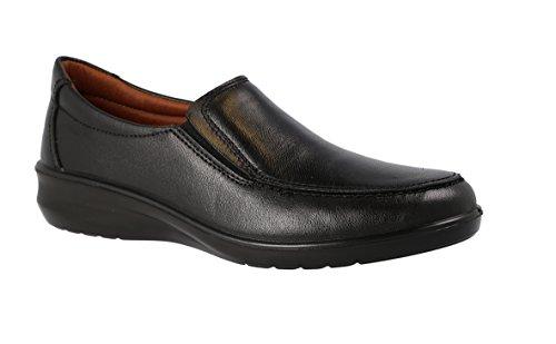 Luisetti 0302, Zapatos Trabajo Mujer, Negro Negro
