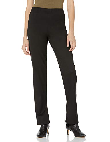 The Drop Women's @lucyswhims Slim Stretch Slit Hem Trouser